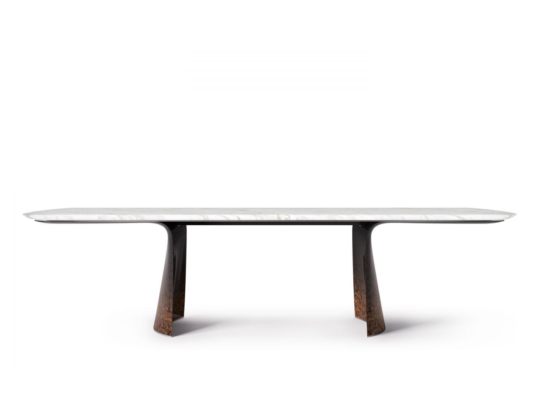 Stół Aldford jest dostępny zarówno w prostokątnej, jak i okrągłej wersji. Fot. Bentley Home