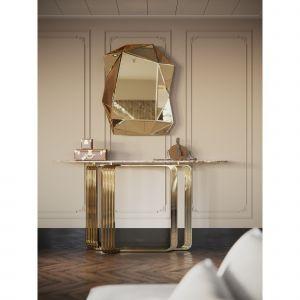 Złote akcenty w sypialni. Projekt: Katarzyna Weremczuk, Weremczuk Design. Fot. Złota 44