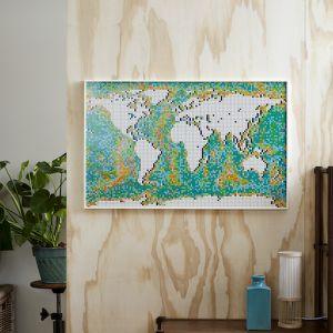 LEGO Art Mapa świata
