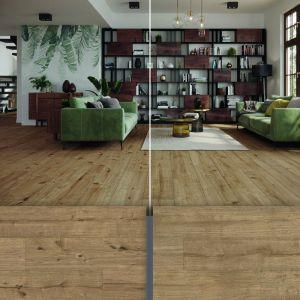 Kolekcja paneli CLASSEN Choice 4V Dąb Parma Rustic po lewej i Dąb Parma Select po prawej