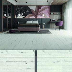 Panele CLASSEN Choice 4V - odcień Dąb Rimini w dwóch odsłonach - Rustic (po lewej) i Select (po prawej)