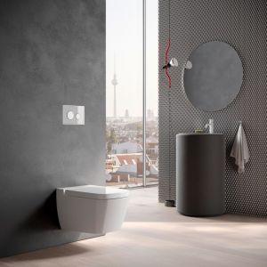 Styl loftowy jest na tyle uniwersalny, że można go wykorzystać także w niewielkiej łazience w bloku. Fot. Tece