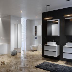 Umywalki z kolekcji Virgo to stylowa, geometryczna ceramika, która idealnie wpisze się w potrzeby wszystkich ceniących elegancję, ergonomię i niezwykłą jakość wykonania. Fot. Cersanit