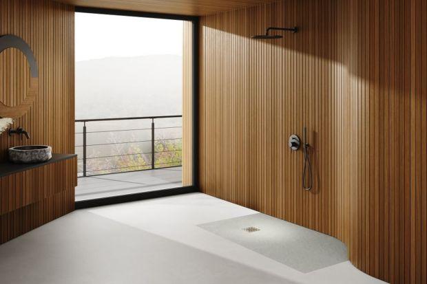 Ściany wykończone betonem architektonicznym czy podłoga z imitującego kamień gresu to elementy, które obecnie należą do kanonu aranżacyjnego najmodniejszych łazienek. Zamiłowanie do surowych, minimalistycznych brył oraz płaszczyzn znajduje dz