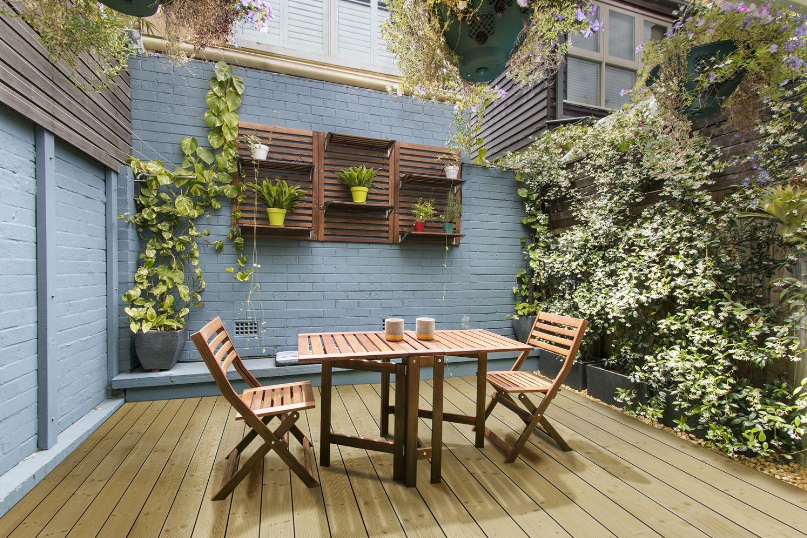 Drewniane deski tarasowe ze świerku. Fot. DLH