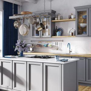 Piękna szara kuchnia w klasycznym stylu, elegancka i pełna uroku. Fot. Ferro