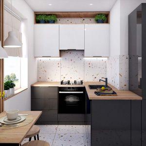 Nawet najmniejsza przestrzeń może być funkcjonalna i pełna uroku. Pomysł na nową aranżację kuchni  – widok po. Fot. Salony Agata