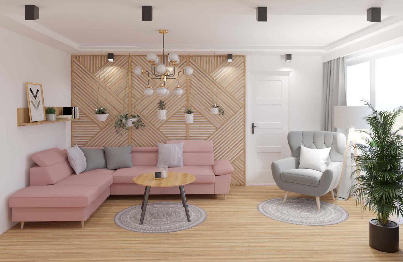 W małym salonie warto postawić na jasne kolor, które optycznie powiększą wnętrze. Fot. Salony Agata