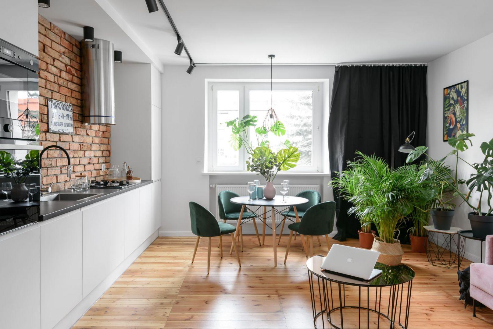 Mała kuchnia w formie aneksu. Projekt Magdalena i Robert Scheitza, pracownia SHLTR Architekci.