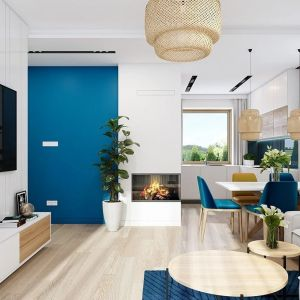 Mimo niedużej powierzchni, wnętrze domu jest bardzo wygodne, przestronne i funkcjonalne. Projekt: arch. Michał Gąsiorowski. Fot. MG Projekt