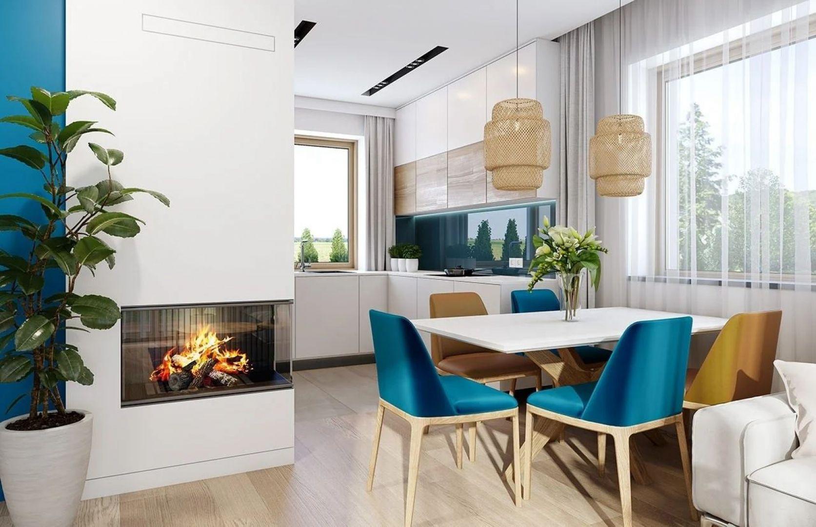 W projekcie zastosowano bardzo dobre izolacje i nowoczesne instalacje, dzięki czemu dom jest energooszczędny i będzie tani w późniejszym utrzymaniu. Projekt: arch. Michał Gąsiorowski. Fot. MG Projekt