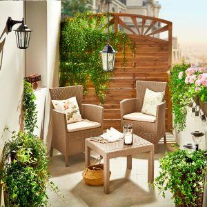 Meble na taras z kolekcji Roserio. Dostępne w Leroy Merlin. Cena: 499 zł/stolik i dwa krzesła. Fot. Leroy Merlin