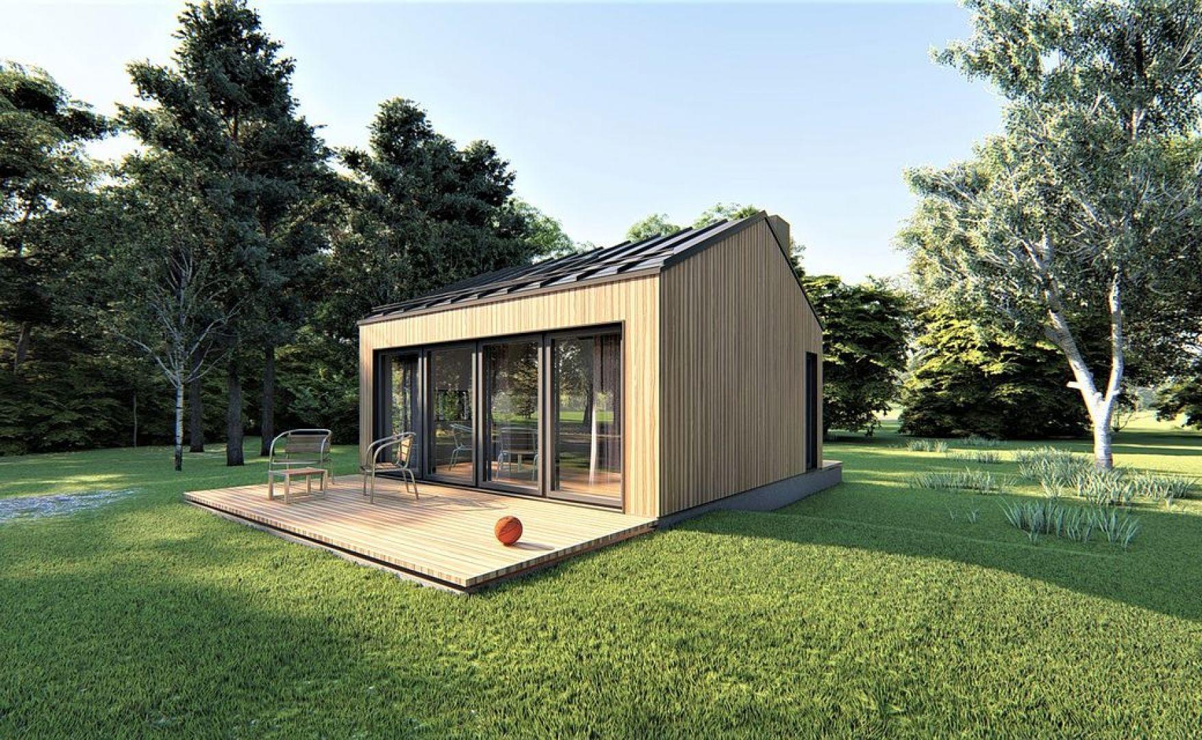 Projekt domu Mini-mini 1. Powierzchnia: 21,84 m2. Autorzy projektu: Extradom.pl