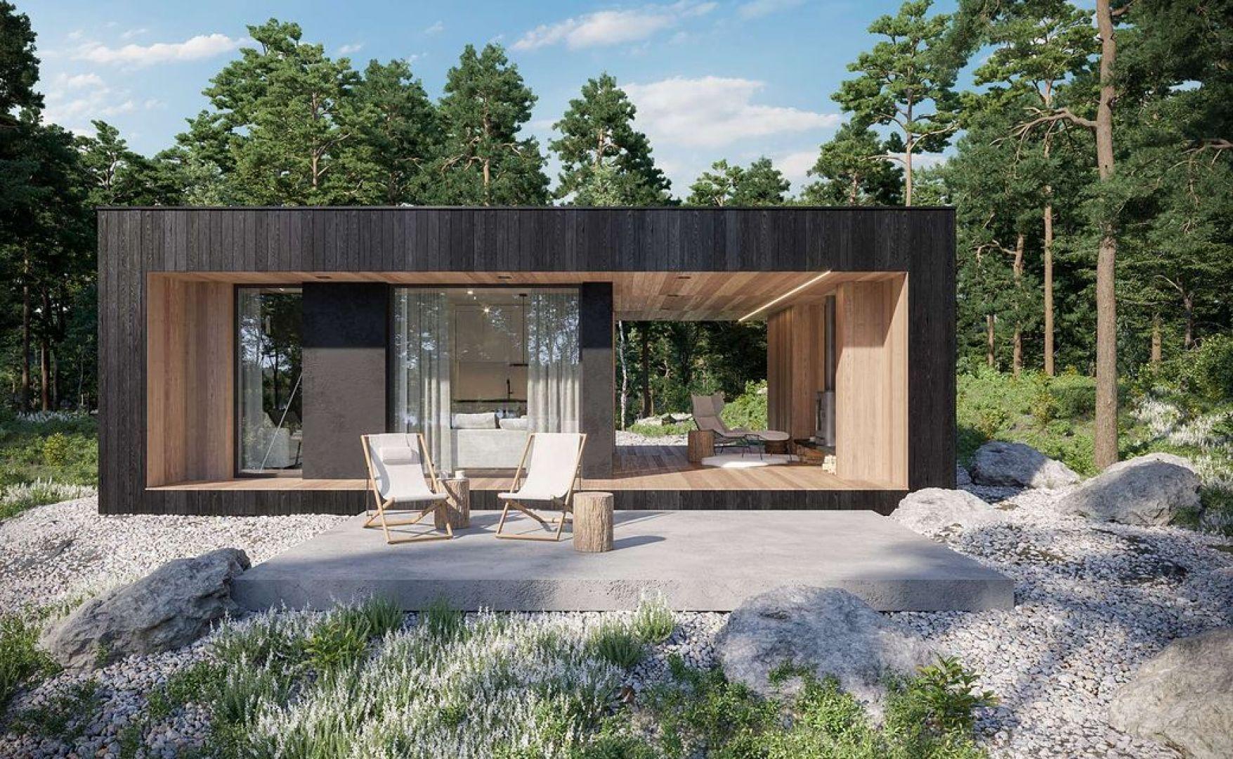 Projekt domu HomeKONCEPT-84 DL. Powierzchnia: 35 m2. Autorzy projektu: HomeKONCEPT