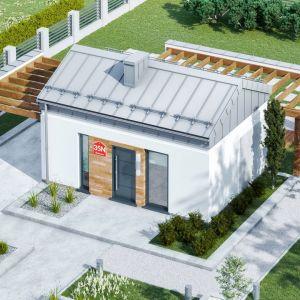 Projekt Dom przy Bukowej 35 N CE. Powierzchnia: 28,40 m2. Autorzy projektu: DOM.pl