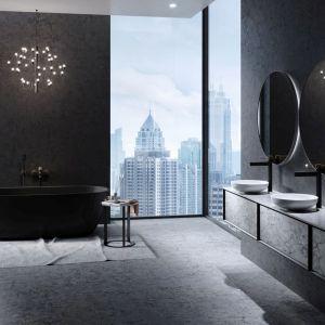 Modne baterie łazienkowe w czarnym kolorze. Fot. Fdesign kolekcja Zaffiro