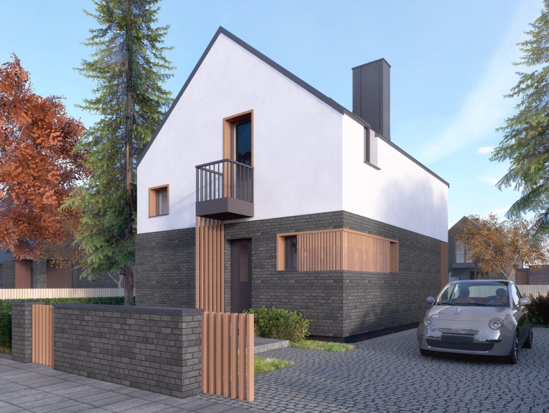 Mandarynka to projekt współczesnego domu dla niewielkiej rodziny. Autor projektu arch. Tomasz Sobieszuk, pracownia DOMYwStylu.pl
