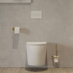Złoto i antracyt w kolekcji OMNIRES CONTOUR oferują piękne wykończenie, które będzie świetnie wyglądało w każdej łazience. Fot. Omnires