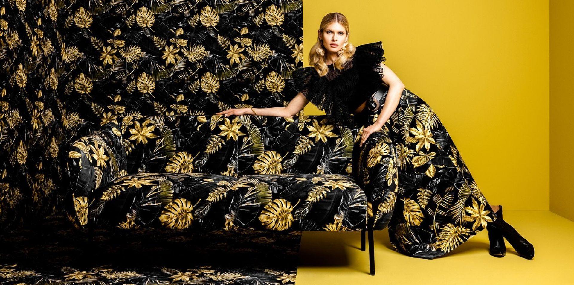 W najnowszej limitowanej kolekcji mebli wypoczynkowych Black Red White moda łączy się z oryginalnymi wzorami tkanin obiciowych. Fot. BRW