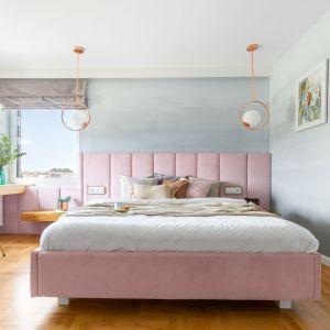 Pastelowa jasna sypialnia - świetny pomysł na lato. Projekt Małgorzata Dents. Fot. Pion Poziom.jpg