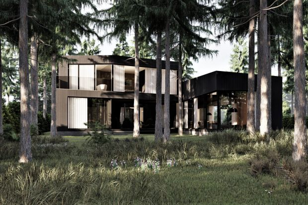 Dom w podwarszawskim Józefowie pięknie wtapia się we wspaniały, leśny krajobraz. Jego nowoczesną bryłę wyróżnia niesamowita elewacja pokryta opalanym drewnem, której budynek zawdzięcza też swoją nazwę – Burned house (Spalony dom).