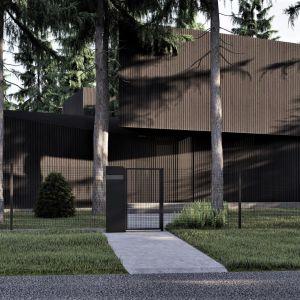Dom nie naruszył zastanego krajobrazu. Budynek omija pnie i korzenie istniejących drzew. Projekt: pracownia Core