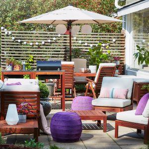 Miejski taras lub balkon także może być bardzo wygodny! Meble na taras z kolekcji Applarok, dostępne w IKEA. Fot. IKEA