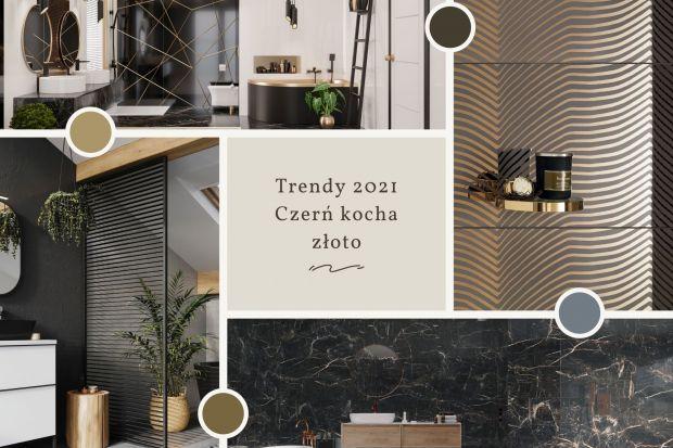 Trendy 2021: czerń i złoto w łazience