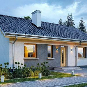 Dom ma prostą i nowoczesną architekturę, a zarazem przytulny i sympatyczny wygląd. Projekt: arch. Michał Gąsiorowski. Fot. MG Projekt