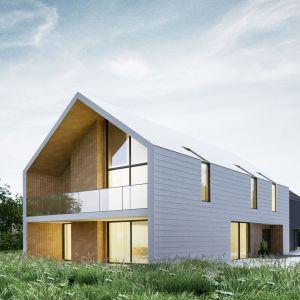 Najważniejszym czynnikiem wpływającym na formę budynku była działka a dokładnie mówiąc jej specyficzne proporcje.  Projekt: Duch Projektanci