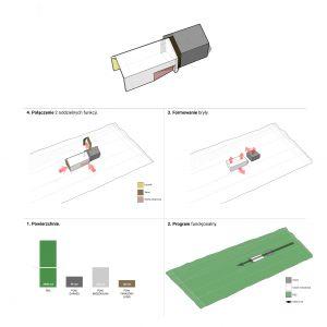 Schemat koncepcyjny domu. Projekt: Duch Projektanci