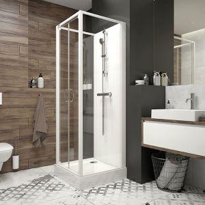Kabiny prysznicowe Basic Complete sprawdzą się w łazience urządzonej w stylu nowoczesnym, jak i bardziej tradycyjnym. ot. Sanplast