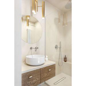 Jasna, mała łazienka z prysznicem. Projekt: Patrycja Morawska. Fot. Anna Laskowska/Dekorialove