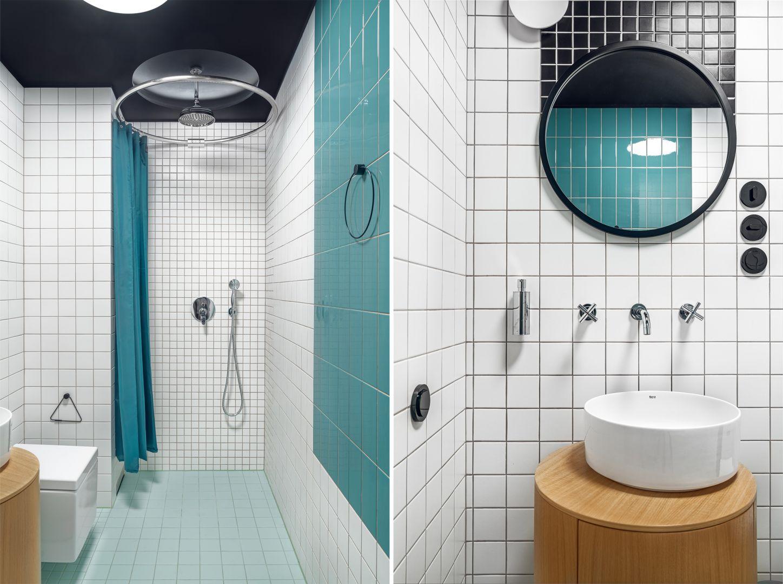 Mała łazienka w prysznicem. Projekt: Interurban/ Weronika Juszczyk, Łukasz Piankowski. Fot. Tom Kurek