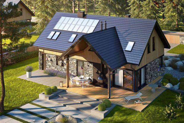 Ten nowoczesny dom z klimatycznym tarasemprezentuje się efektownie i elegancko. Jest energooszczędny i świetnieintegruje się z otoczeniem. W tym domu można zakochać się od pierwszego wejrzenia!
