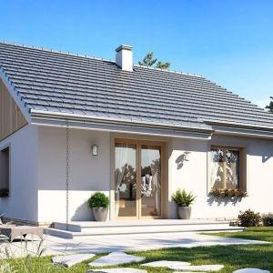 Budynek będzie się świetnie komponował z otoczeniem zarówno na przedmieściach, jak i na wsi. Projekt: arch. Michał Gąsiorowski. Fot. MG Projekt