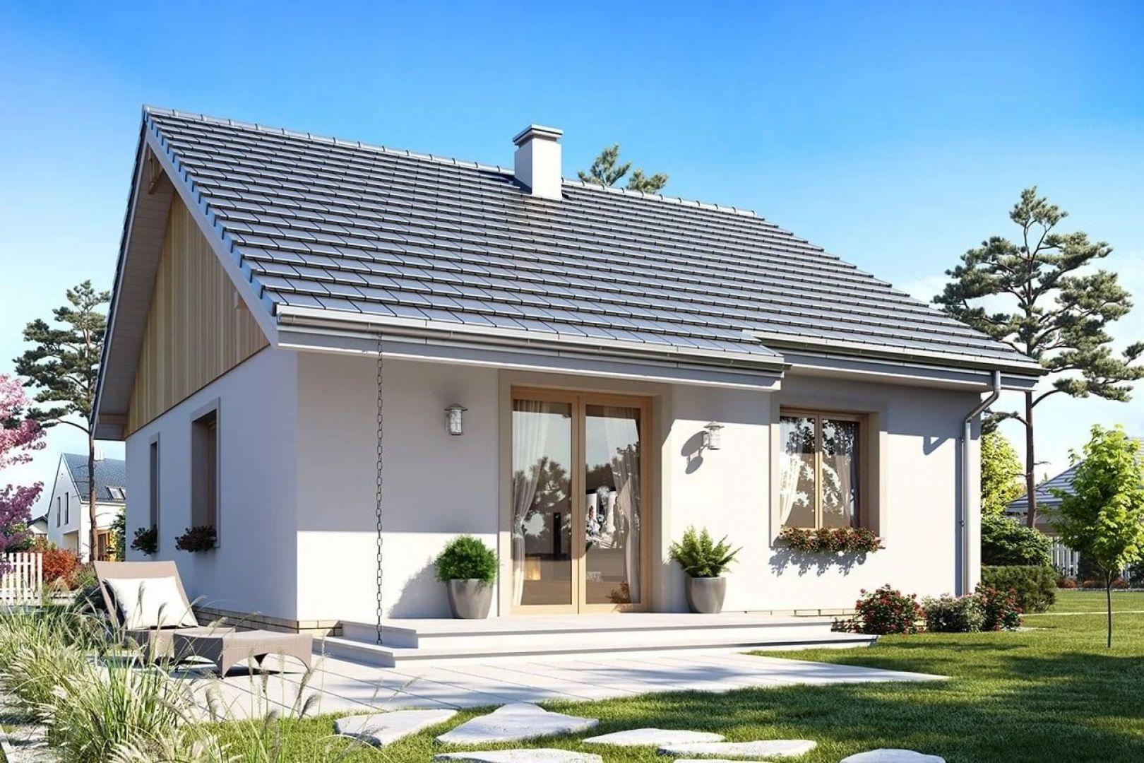 Dom Zosia 4 - jego architektura jest bezpretensjonalna i przyjemna dla oka. Projekt: arch. Michał Gąsiorowski. Fot. MG Projekt