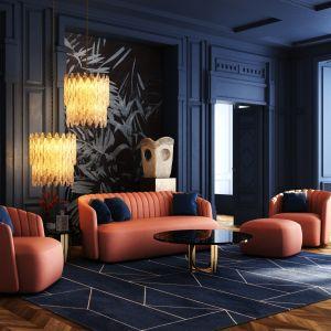 W poszukiwaniach sofy można też postawić na nieszablonowe pikowania na oparciach sofy i foteli z kolekcji LAROC.