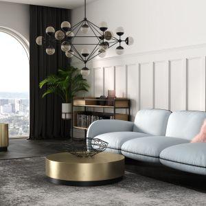 W przypadku sof ORO, z pozoru tradycyjny zestaw siedzisk, w rzeczywistości wyróżnia się futurystycznym kształtem, a dzięki szerokiej gamie kolorów obicia, może również przykuwać uwagę oryginalną barwą.