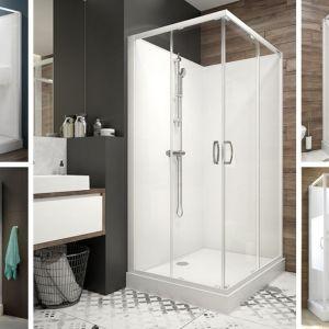 Pomysły na kabię prysznicową do małego domku. Fot. Sanplast