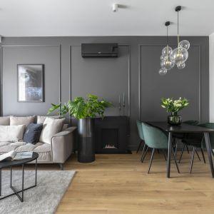 Najważniejsze meble w salonie to te, które umożliwiają nam komfortowy odpoczynek. Projekt Naboo fot.PionPoziom