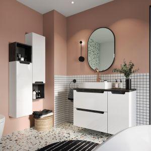 Kobieca łazienka w modnych kolorach. Fot. NAS kolekcja mebli Stilla