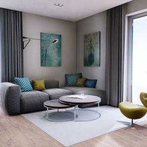 Wnętrze domu mimo niedużych rozmiarów jest bardzo wygodne, przestronne i ustawne. Projekt: pracownia Archipelag
