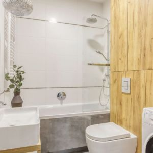 Mała łazienka w bloku. Projekt i zdjęcia Deer Design Pracownia Architektury