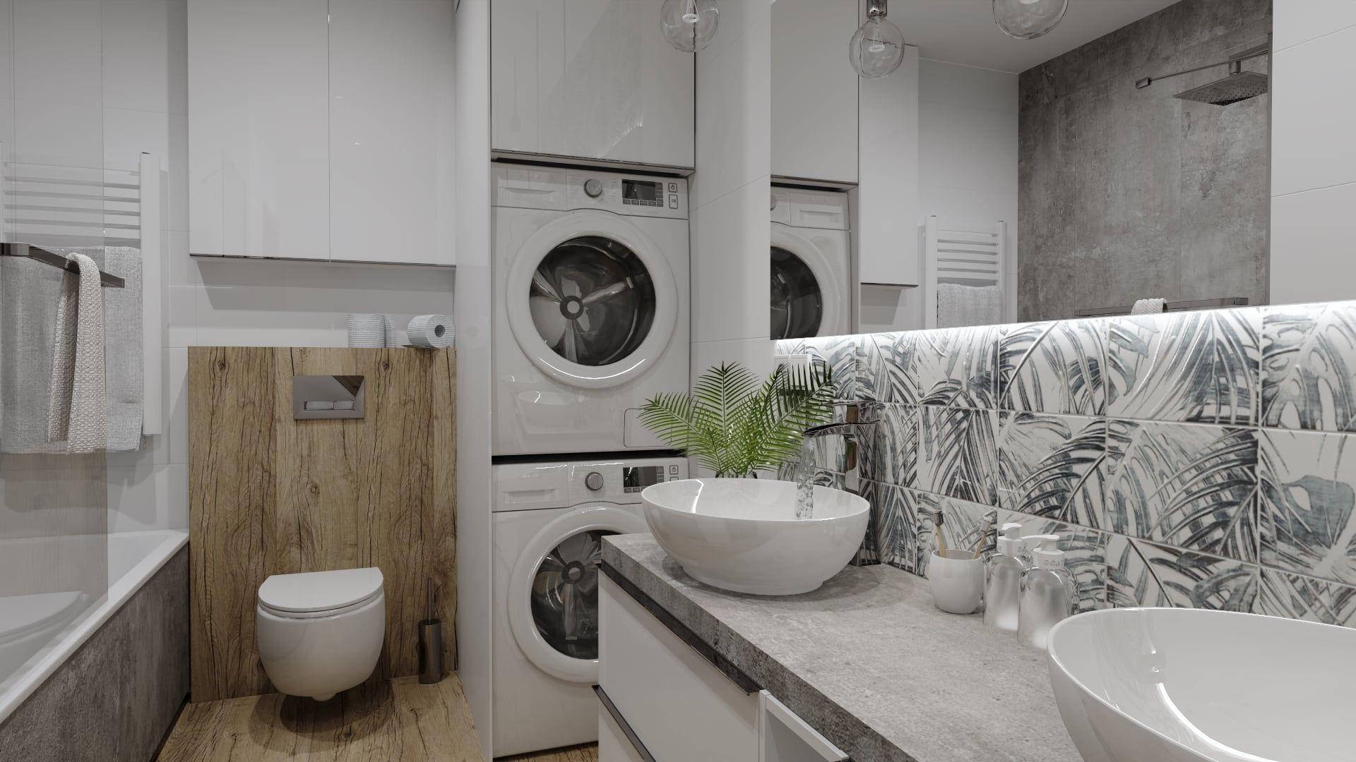 Aranżacja małej łazienki w bloku. Projekt Bart Box. Fot. mat. prasowe Luxrad
