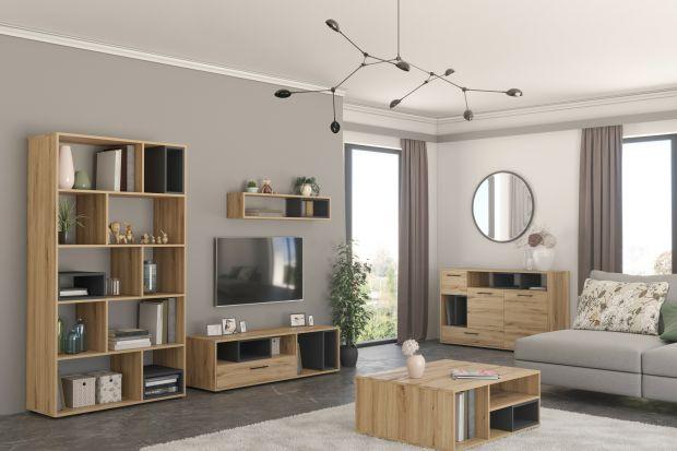 Piękna kolekcja mebli w kolorze drewna. Świetnie zaprezentuje się w nowoczesnymsalonie. Jest modna i funkcjonalna.