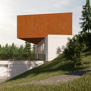 Lokalizacja podyktowała bryłę domu, która została kaskadowo umieszczona na zboczu. Projekt: pracownia Core