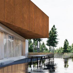 Białe tynki zapewniają czystość i minimalistyczną formę dwóch niższych kondygnacji budynku. Projekt: pracownia Core