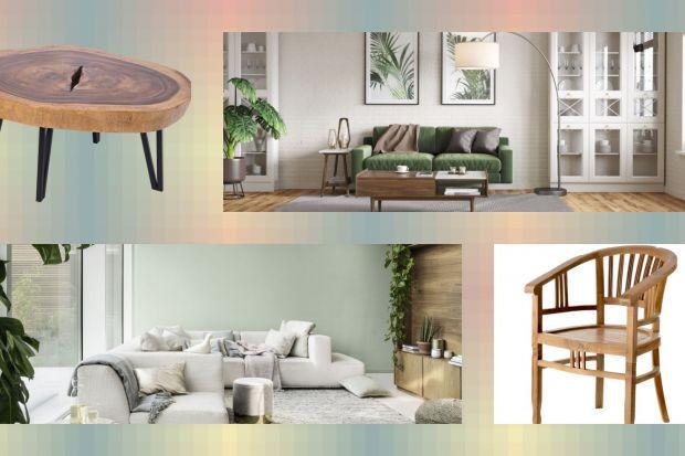 Drewniane mebli, naturalne dekoracje, kolory ziemi, kwiatowe motywy. Zaproś naturę do salonu. Będzie modnie i pięknie!