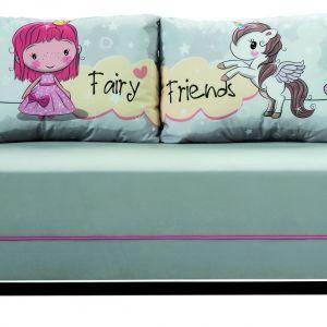 Sofa Friends łatwo się rozkłada. Posiada też pojemnik na pościel z dodatkowym zabezpieczeniem. Producent: Libro. Fot. Libro Mebel